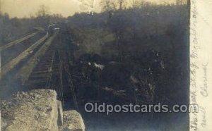 Real Photo Crandall Indiana, Harrison County Train Wreck USA Railroad Station...