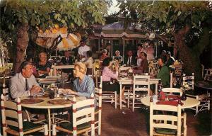 Tuscon Arizona~The Old Adobe Patio Restaurant Dining Area~1950s Postcard