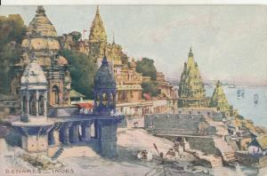 India Benares early postcard
