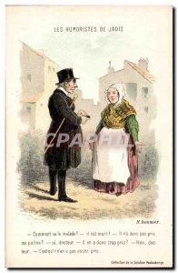 Old Postcard The humourists of formerly Daumier How is the patient Illustrato...