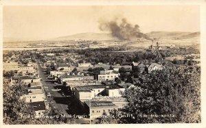 RPPC Fruit Growers Mill from Susanville, CA Street Scene c1940s Vintage Postcard