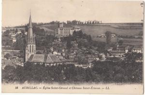 France, AURILLAC, Eglise Saint-Geraud et Chateau Saint-Etienne, unused Postcard