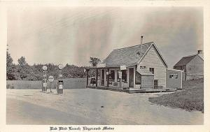 Edgecomb ME Socony Red Bird Gas Station RPPC Real Photo Postcard