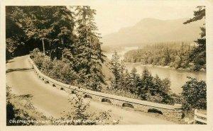 Cascades Columbia Highway RPPC Photo Postcard 1920s Oregon 20-2147