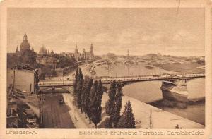 Dresden Elbansichf Bruehlsche Terrasse Carloabruecke Bridges River Panorama