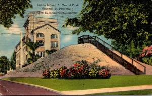 Florida St Petersburg Indian Mound At Mound Park Hospital 1944