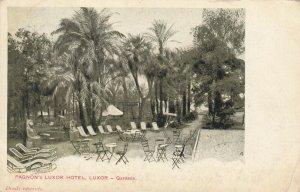 LUXOR , EGYPT , 1900 ; Pagnon's Luxor Hotel - Gardens
