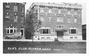 F32/ Olympia Washington Postcard c1940s Elk's Club Building
