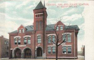 McKEESPORT , Pennsylvania, 1900-10s; Central Fire & Police station