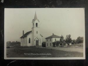 Mint USA RPPC Postcard Herman Lutheran Church Remus MI