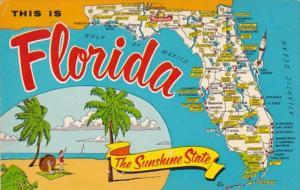 Map Of Florida 1972