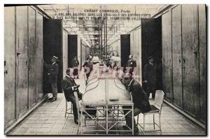 Old Postcard Bank Credit Lyonnais Paris One of the galleries in the basements...