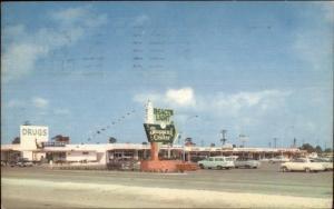 Pompano Beach FL Beacon Light Shopping Center Old Postcard