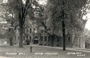 USA Ingram Hall Ripon College Wisconsin RPPC 03.30