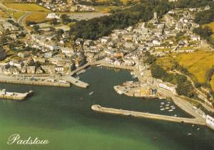 Cornwall Postcard, Padstow from the Air, Aerial View S23