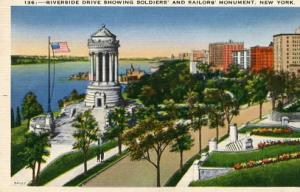 NY - New York City, Riverside Drive & Soldiers' & Sailors' Monument