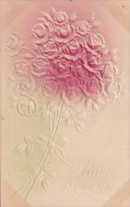 Happy Returns With Bouquet Of Roses 1909