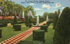 Florida Jacksonville Epping Forest Formal Garden Home Of Mrs Alfr...