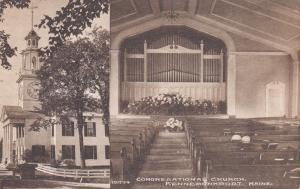 Kennebunkport, Maine, 1900-10s; Interior & Exterior, Congregational Church