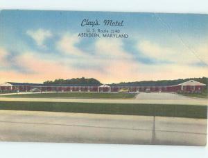 Linen CLAY'S MOTEL Aberdeen Maryland MD M6367