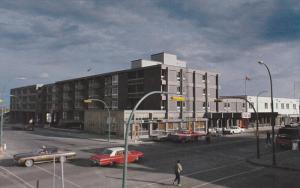 Street view,  Yellowknife Inn,  Yellowknife,  Northwest Territories,  Canada,...