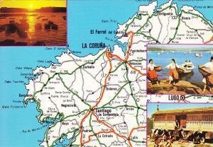 Postal 60794: Mapa de Galicia
