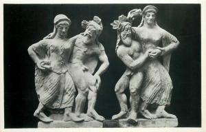 Silenus and Maenad Greek mythology art photo postcard