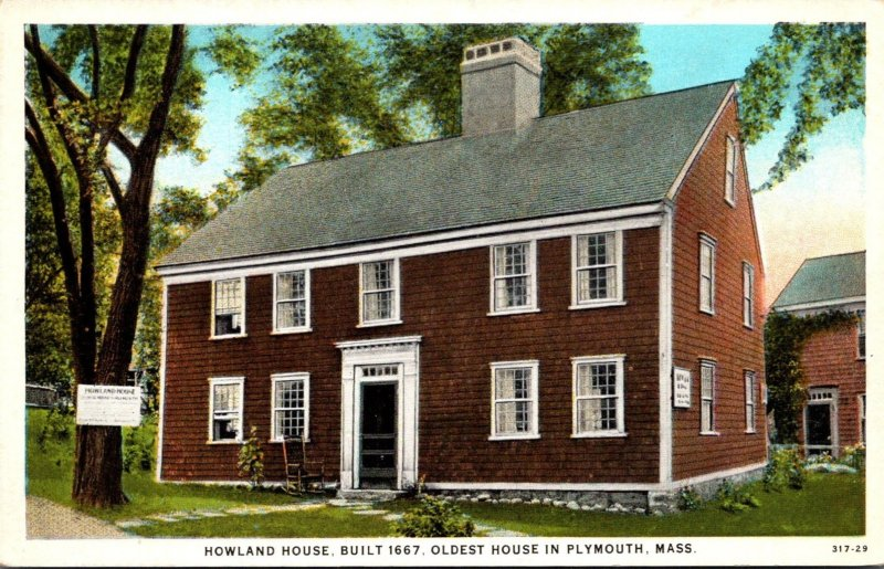 Massachusetts Plymount Howland House Built 1667 Oldest House In Plymouth Curt...