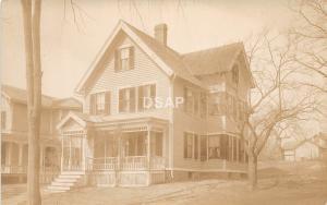 C5/ Hartford Connecticut Real Photo RPPC Postcard c1910 Home Porch