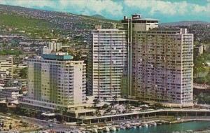 Hawaii Honolulu Ilikai Hotel Overlooking Waikiki And The Yacht Harbor