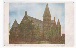 Baptist Church Amherst Nova Scotia Canada postcard