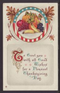 A Pleasant Thanksgiving,Fruit Postcard