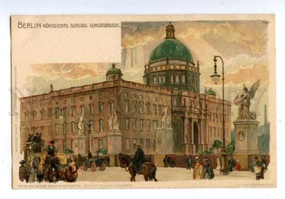 147368 GERMANY BERLIN by KLEY Vintage litho undivided postcard