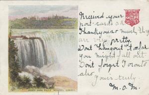 NIAGARA FALLS , Ontario , Canada ,1905 ; Horse Shoe Falls