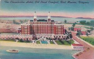 Virginia Fort Monroe The Chamberlin Hotel Old Point Comfort 1953
