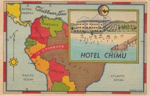 CHIMBOTE , Peru , 1951 ; Map & Hotel Chimu