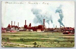 Pueblo Colorado~Steel Works Factory~CF&I Company~c1910 Postcard