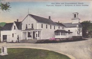 Post Office and Congregational Church, Plymouth, Vermont, 1900-1910s