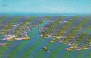 Massachusetts Cape Cod Aerial View Of Cape Cod Canal 1970