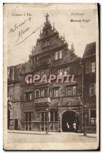 Old Postcard Kopihaus House Kopf Colmar