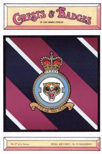 Postcard RAF Royal Air Force No.74 Squadron Crest Badge No.67 NEW