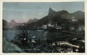 brazil, RIO de JANEIRO, Botafogo (1950s) Blue RPPC