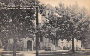 B25/ Bellmore Long Island New York NY Postcard c1920 Methodist Episcopal Church