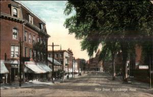 Southbridge MA Main St. c1910 Postcard