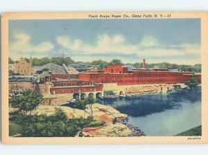Linen FACTORY SCENE Glens Falls - Lake George New York NY c7013