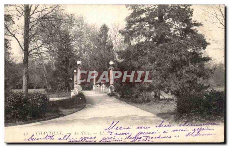 Old Postcard Chateau De Chantilly Park