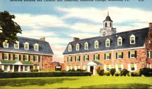 Pennsylvania Bethlehem Moravian College Archives Building and Colonial Hall D...