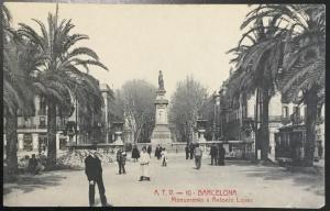 Vintage Picture Postcard Unused Barcelona Monumento a Antonio Lopez Spain LB