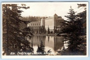 BYRON HARMON RPPC #631 CHATEAU LAKE LOUISE ALONG THE CANADIAN PACIFIC RAILWAY LN
