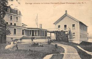 Upper Chateaugay Lake New York Morrisons Entrance Antique Postcard K68730